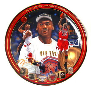 Michael Jordan Upper Deck 1998 NBA Championship Collector Plate #2784A