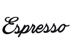 Espresso Word Art Sign Coffee Home Decor Wall Hanging Cursive Script Typography
