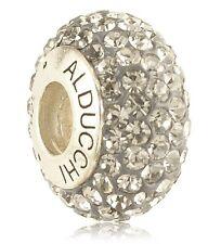 Alducchi Black Diamond Swarovski Crystal 925 Silver European Charm Bead