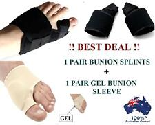 Bunion Splints Foot Toe Pain Relief Hallux Valgus Brace Gel Pad Protector