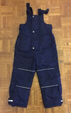 Boys Hanna Andersson Ski Bib Snow Pants Navy Blue 110 (4-6 years) Good Condition