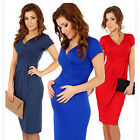 Hot Pregnant Women Maternity Short Sleeve Casual Dress Cotton Summer Clothes