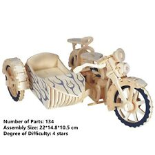 New Assembly DIY Education Toy 3D Wooden Model Puzzles Of Motorcycle Cyclecar