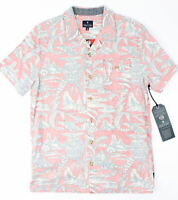 Roark Mens Misty Morning Button Up Coral L New