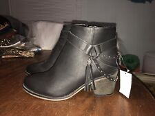 Cato Black Studded Ankle Boots Women's Sz.9 New Without Box