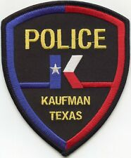 KAUFMAN TEXAS TX colorful POLICE PATCH