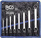 Bgs 30300 - Double Clé À Anneau Set Extra plat 8 Pièces in 6-22mm
