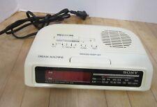 """Vintage SONY """"Dream Machine"""" AM-FM clock radio, beige  clean, works."""