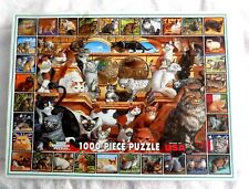 "White Mountain ""The World Of Cats"" 1000-Piece Jigsaw Puzzle"