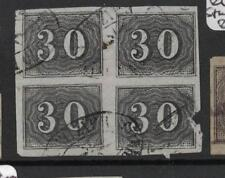 Brazil SC 23 Block of Four, Lower Right Stamp Fault VFU (4drg)