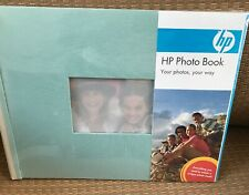 HP Q8791A Expandable Photo Book 25 Pages 8.5 x 11 Seafoam/Stone Cloth Cover  New