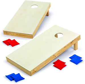 Backyard Champs Corn Hole Outdoor Game: 2 Regulation Wood Cornhole Boards and 8