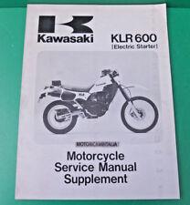 KAWASAKI kl600 klr kl 600 b1 manuale officina supplement owner's service manual