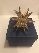 Swarovski Crystal Star Candleholder, Gold Tone