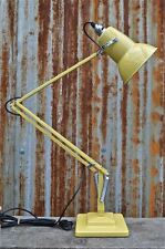 SUPERB ORIGINAL HERBERT TERRY ANGLEPOISE LIGHT IN YELLOW DESK TABLE LAMP REFURB