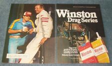 "1981 Winston Cigarettes Vintage Drag Racing Ad ""Winston Drag Series"" Dragster"