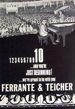 FERRANTE & TEICHER 1968 original POSTER ADVERT midnight cowboy exodus