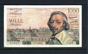 Billet 1000 Francs Richelieu 07/03/57 TB+ Fay 42-25