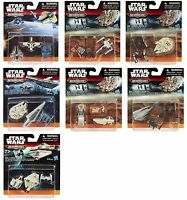 MICROMACHINES* 3pc Set STAR WARS THE FORCE AWAKENS Vehicle Toys DISNEY Carded