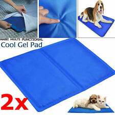 2x PET COOLING GEL MAT BED DOG CAT SUMMER HEAT RELIEF NON TOXIC CUSHION PAD UK