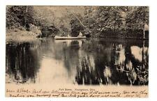 OH - YOUNGSTOWN OHIO 1909 Postcard PARK SCENE PEOPLE IN A CANOE