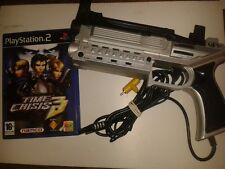 Playstation 2 4GAMERS SILVER XK10 GUN CONTROLLER  with Time Crisis 3 PS2