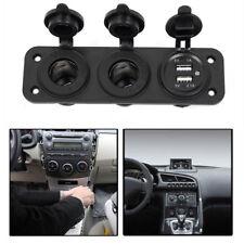 Car Boat Cigarette Lighter Socket 2.1A Dual USB Port Charger Mount Panel Adapter