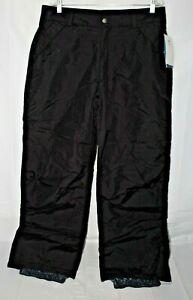 NWT $60 WHITE SIERRA Men's XL Black Waterproof Snow Winter Pants 36 X 32