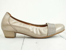 GABOR Comfort ☀ Damen Pumps Gr. 37,5 (4,5) Silber Echtleder Leather Woman Shoe
