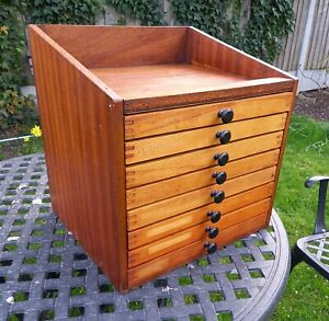 Vintage printers wooden toolbox, cabinet, chest. Handmade. FREE P&P
