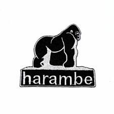Harambe meme Gorilla Monkey Cincinnati Zoo Artwork Emblem Cloth Iron on patch