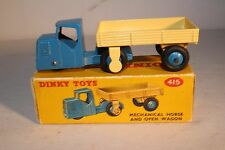1950's Dinky Toys #415 Mechanical Horse and Open Wagon, Blue & White, Nice Boxed