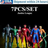 7x/Set DC Justice League Superman Batman Flash Aquaman Cyborg Action Figure Toy