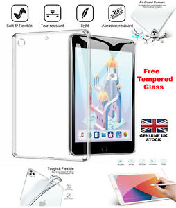 """Tempered + Shockproof Silicone TPU Gel Case Cover For Apple iPad Mini 4 7.9"""""""