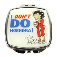 Betty Boop Collectors Compact Makeup Mirror - I Dont Do Mornings