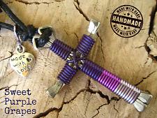 Sweet Purple Grapes colors Cross Pendant Disciples Cross Horseshoe Nails Amulet