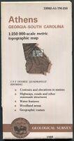 USGS Topographic Map ATHENS Georgia South Carolina 1:250K 1988 1x2° - old stock