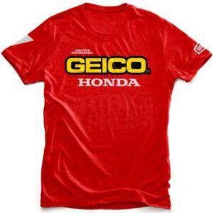 BRAND NEW RED LARGE 100% GEICO HONDA STANDARD SHORT SLEEVED T SHIRT