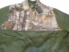 NEW Mens UNDER ARMOUR Coldgear REAL TREE XTRA CAMO/Green 1/4 ZIP 2xl FREE SHIP