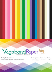 """Over 100 Sheets! 8.5"""" x 11"""" Premium Quality CARDSTOCK PAPER - 21 Rainbow Colors"""