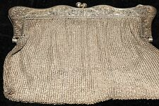 ANTIQUE SILVER STERLING LADIES MESH PURSE BAG Aprox 262gr.