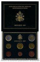 VATICANO 2005 - DIVISIONALE UFFICIALE MONETE  EURO PAPA GIOVANNI PAOLO II - FDC