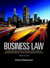 NEW Business Law (9th Edition) by Henry R. Cheeseman