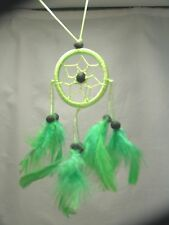 Light Green Dreamcatcher, Handmade, Hand on the rear view mirror, Window, Fan