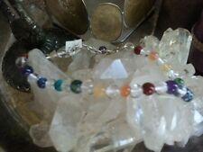 Genuine Gemstone Chakra Bracelet Sterling Silver Yoga, Manifestation, Healing