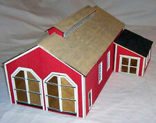 TWO STALL ENGINEHOUSE with SHOP O On30 Model Railroad Structure Wood KIT DF210