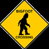Bigfoot Crossing Magnet - Made like a yield sign - Made in USA - Flexible Magnet
