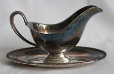 Wm Rogers Avon 3613 silverplate sauce gravy bowl with plate dish server vintage