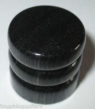 Potiknopf Knopf aus Holz schwarz lackiert speed knob dome knob