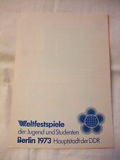 DDR Kult FDC Ersttagsbrief Gedenkblatt Ersttagsblatt Weltfestspiele Berlin 1973
